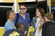De Jumbo Racedagen, driven by Max Verstappen op Circuit Zandvoort. / The Jumbo Race Days, driven by Max Verstappen at Circuit Zandvoort.<br /> <br /> Op de foto / On the photo:Prins  Constantijn met zijn kinderen Leonore , Eloise en Claus-Casmir in de pitt met Jan Lammers