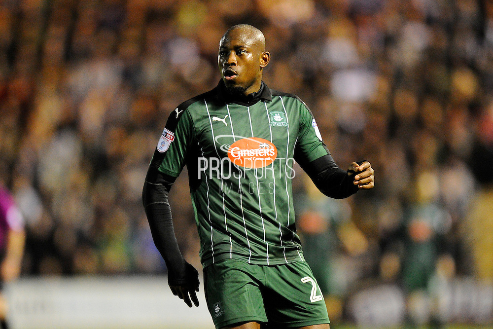 Paul-Arnold Garita (26) of Plymouth Argyle during the EFL Sky Bet League 2 match between Plymouth Argyle and Wycombe Wanderers at Home Park, Plymouth, England on 26 December 2016. Photo by Graham Hunt.