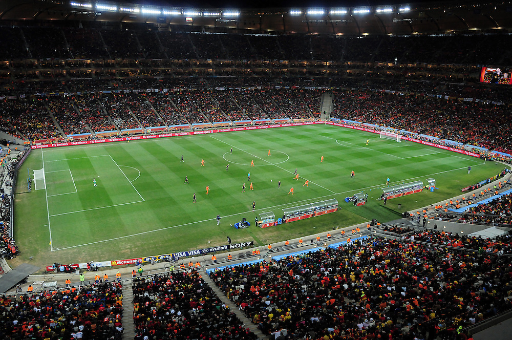 during the 2010 FIFA World Cup South Africa  Final match between Holland and Spain at Soccer City  on 11 July, 2010 in Johannesburg, South Africa.
