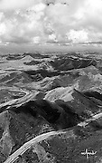 Aerial view of Central Mountain Range