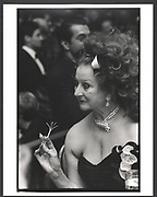 Martha Reed with champagne twizzle stick. Spanish gold medal Gala. Pierre Hotel. New york 17 November 1989Exhibition in a Box