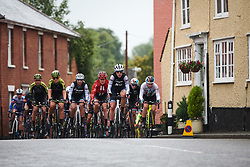Ellen van Dijk (NED) leads the bunch through Eye during Stage 1 of 2019 OVO Women's Tour, a 157.6 km road race from Beccles to Stowmarket, United Kingdom on June 10, 2019. Photo by Sean Robinson/velofocus.com