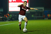 Sam Hoskins on the ball during the The FA Cup match between Northampton Town and Derby County at the PTS Academy Stadium, Northampton, England on 24 January 2020.