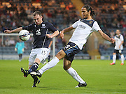 Dundee's Carlo Monti takes on Rangers' Belil Mohani  - Dundee v Rangers, pre-season friendly at Dens Park <br /> <br />  - © David Young - www.davidyoungphoto.co.uk - email: davidyoungphoto@gmail.com