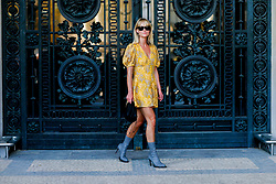 Street style, Jeanette Friis Madsen arriving at Paco Rabanne spring summer 2019 ready-to-wear show, held at Grand Palais, in Paris, France, on September 27th, 2018. Photo by Marie-Paola Bertrand-Hillion/ABACAPRESS.COM
