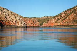 Beautiful reflections near slackwater at the Horizontal Waterfalls in Talbot Bay.