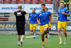 Bristol Rovers warm up - Mandatory byline: Neil Brookman/JMP - 07966386802 - 29/08/2015 - FOOTBALL - Matchroom Stadium -Leyton,England - Leyton Orient v Bristol Rovers - Sky Bet League Two