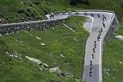 June 14, 2018 - Gommiswald, Suisse - GOMMISWALD, SWITZERLAND - JUNE 14 : Illustration picture of the peloton during stage 6 of the Tour de Suisse cycling race, a stage of 186 kms between Fiesch and Gommiswald on June 14, 2018 in Gommiswald, Switzerland, 14/06/2018 (Credit Image: © Panoramic via ZUMA Press)