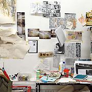 Detail of an artist studio