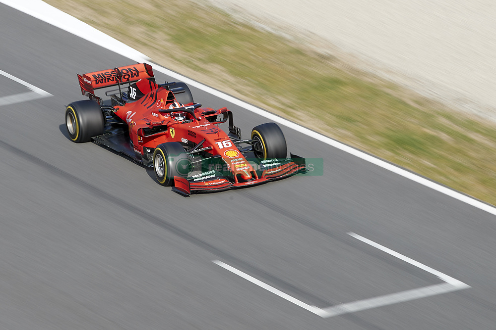 February 19, 2019 - Spain - Charles Leclerc (Scuderia Ferrari Mission Winnow) seen in action during the winter test days at the Circuit de Catalunya in Montmelo  (Credit Image: © Fernando Pidal/SOPA Images via ZUMA Wire)