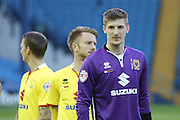 MK Dons goalkeeper Charlie Burns (29)  during the Sky Bet Championship match between Sheffield Wednesday and Milton Keynes Dons at Hillsborough, Sheffield, England on 19 April 2016. Photo by Simon Davies.