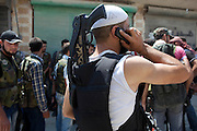 Free Syrian Army fighters during a attack on goerment forces  in Karm al-Tarib, near Aleppo's international airport.Aleppo, Syria August 17,2012. (Photo by Heidi Levine/Sipa Press).