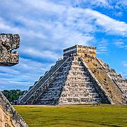 Chichen Itza # 6       El Castillo temple. Chichen Itza, Yucatan. Mexico.