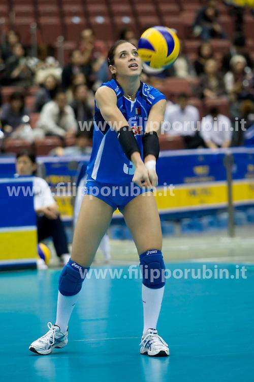 IMMA SIRRESSI.ITALIA - BRASILE.PALLAVOLO DONNE WORLD GRAND CHAMPIONS CUP FEMMINILE 2009.FUKUOKA (JPN) 14-11-2009.FOTO GALBIATI - RUBIN