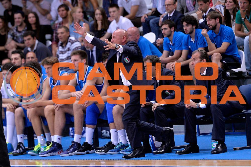 DESCRIZIONE : Mosca Moscow Qualificazione Eurobasket 2015 Qualifying Round Eurobasket 2015 Russia Italia Russia Italy<br /> GIOCATORE : Luca Dalmonte <br /> CATEGORIA : Delusione<br /> EVENTO : Mosca Moscow Qualificazione Eurobasket 2015 Qualifying Round Eurobasket 2015 Russia Italia Russia Italy<br /> GARA : Russia Italia Russia Italy<br /> DATA : 13/08/2014<br /> SPORT : Pallacanestro<br /> AUTORE : Agenzia Ciamillo-Castoria/GiulioCiamillo<br /> Galleria: Fip Nazionali 2014<br /> Fotonotizia: Mosca Moscow Qualificazione Eurobasket 2015 Qualifying Round Eurobasket 2015 Russia Italia Russia Italy<br /> Predefinita :