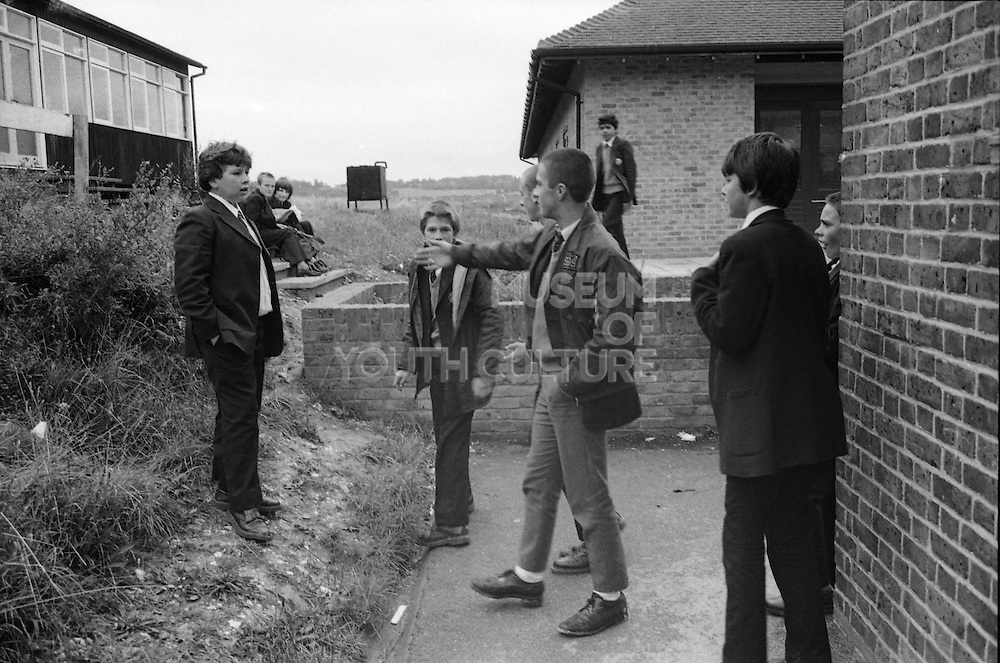 Stuart Edema, Darrel and Others in Playground, High Wycombe, UK, 1980s.