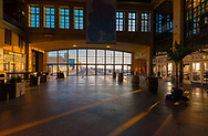 Asbury Park, NJ, USA -- July 21, 2017--Early morning light streams into Convention Hall in Asbury Park, NJ. Editorial Use Only