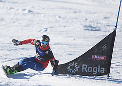 Prommegger Andreas during the men's Snowboard giant slalom of the FIS Snowboard World Cup 2017/18 in Rogla, Slovenia, on January 21, 2018. Photo by Urban Meglic / Sportida