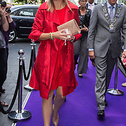 NLD/Eindhoven/20140623 - Aankomst Koningin Maxima bij bijeenkomst Kracht on Tour<br /> <br /> Arrival Queen Maxima attends the Power on Tour meeting in Eindhoven the Netherlands