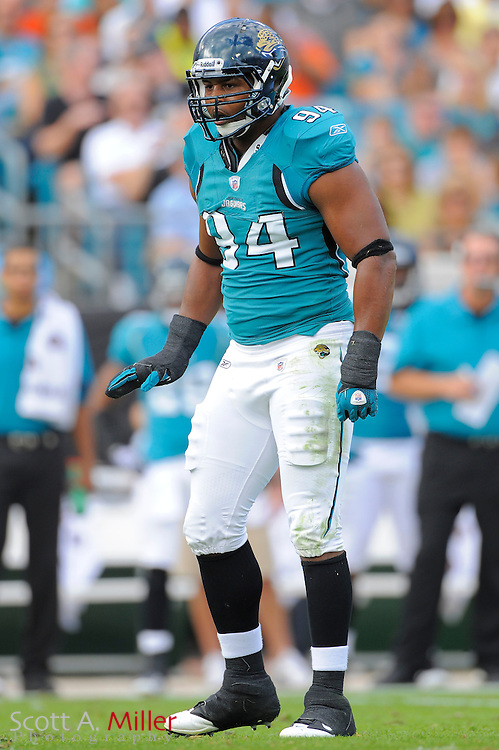 Jacksonville Jaguars defensive end Jeremy Mincey (94) during the Jags game against the Cleveland Browns at EverBank Field on Nov. 21, 2010 in Jacksonville, Florida...©2010 Scott A. Miller