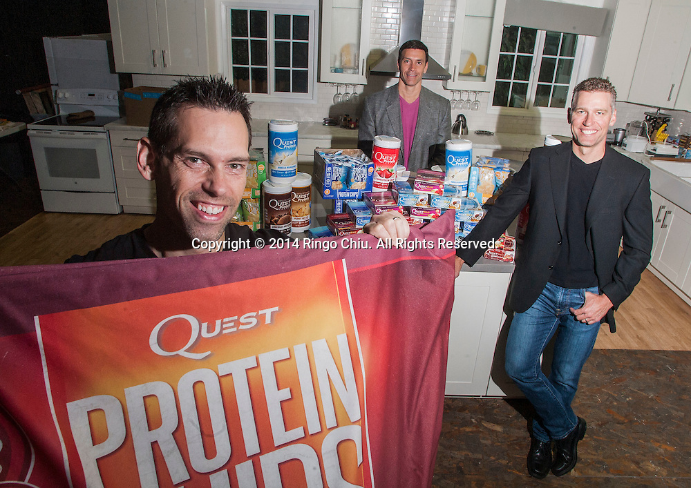 (From L to R) Co-founders of Quest Nutrition: President Tom Bilyeu, CEO Ron Penna and CFO Mike Osborn. (Photo by Ringo Chiu/PHOTOFORMULA.com)