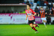 Exeter City's James Hamon during the Sky Bet League 2 match between Exeter City and Luton Town at St James' Park, Exeter, England on 19 December 2015. Photo by Graham Hunt.