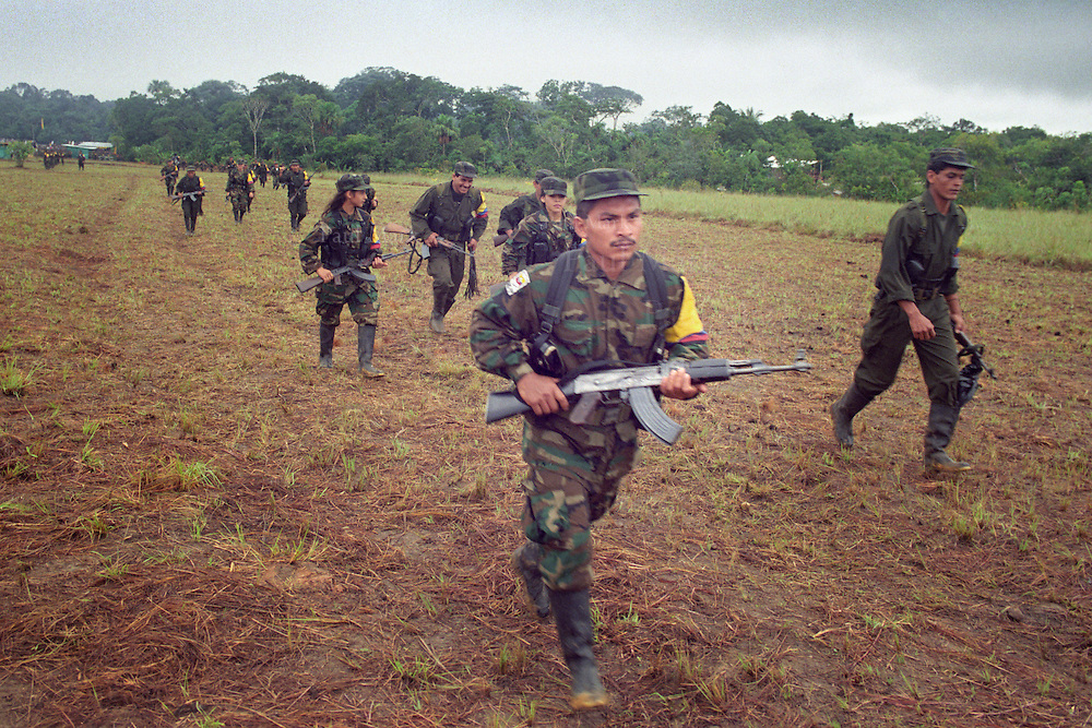 Guerrillas of the FARC (Revolutionary Armed Forces of Colombia).