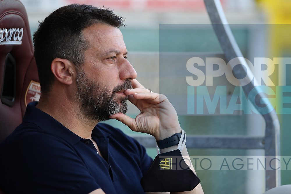 Parma Calcio's Italian Head coach Roberto D'Aversa during the Serie A match at Stadio Grande Torino, Turin. Picture date: 20th June 2020. Picture credit should read: Jonathan Moscrop/Sportimage