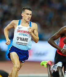 London, August 13 2017 . Chris O'Hare, Great Britain the men's 1500m final on day ten of the IAAF London 2017 world Championships at the London Stadium. © Paul Davey.