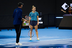 September 28, 2018 - Simona Halep of Romania practices at the 2018 China Open WTA Premier Mandatory tennis tournament (Credit Image: © AFP7 via ZUMA Wire)