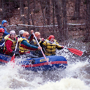 White water rafting on the West Branch of the Penobscot River, Maine, USA