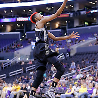 25 May 2014: San Antonio Stars guard Danielle Robinson (13) goes for the layup during the Los Angeles Sparks 83-62 victory over the San Antonio Stars, at the Staples Center, Los Angeles, California, USA.