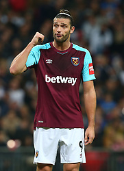 October 25, 2017 - London, England, United Kingdom - West Ham United's Andy Carroll.during Carabao Cup 4th Round match between Tottenham Hotspur and West Ham United at Wembley Stadium, London,  England on 25 Oct  2017. (Credit Image: © Kieran Galvin/NurPhoto via ZUMA Press)