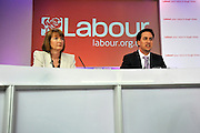 under license to London News Pictures. LONDON, UK  03/05/2011. Labour Leader Ed Miliband holds a press conference with Harriet Harmen at the party's HQ this morning (03 May 2011). The Conference was to urge people to vote in favour of a yes vote at the forth coming AV Referendum. Photo credit should read Stephen Simpson/LNP.