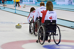 Ina Forrest, Dennis Thiessen, Sonja Gaudet, Wheelchair Curling Finals at the 2014 Sochi Winter Paralympic Games, Russia