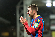 Crystal Palace #18 James McArthur, celebrates win after scoring goal during the Premier League match between Crystal Palace and Watford at Selhurst Park, London, England on 12 December 2017. Photo by Sebastian Frej.