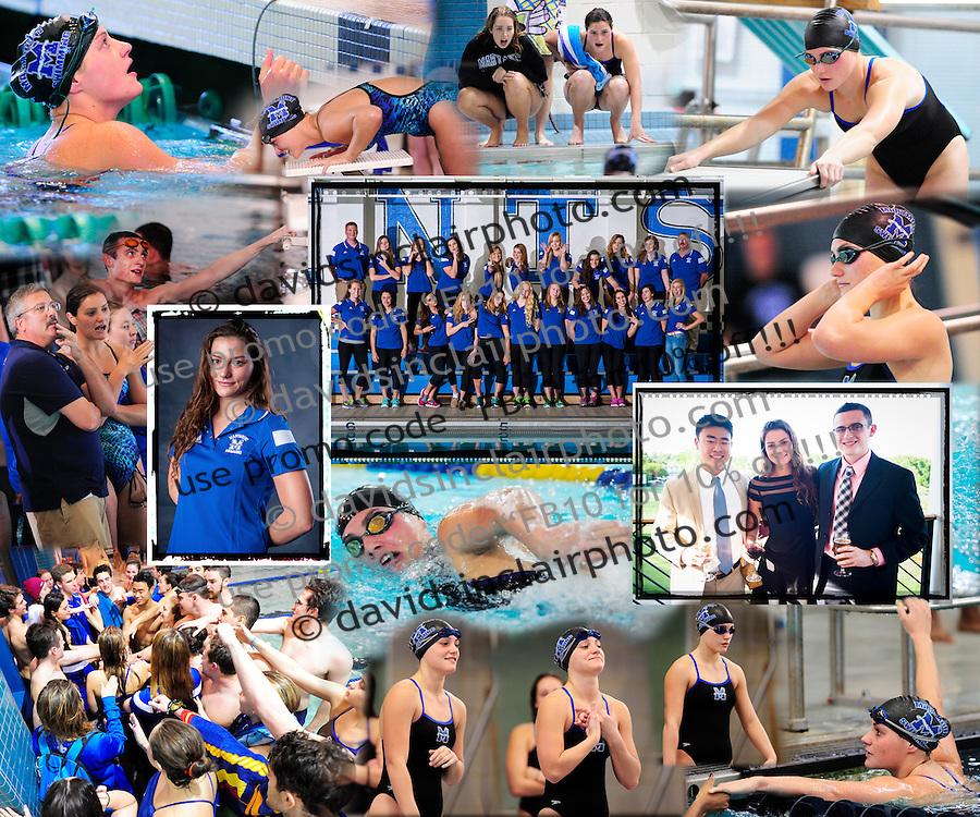 Thomas Marymount Swimming collage