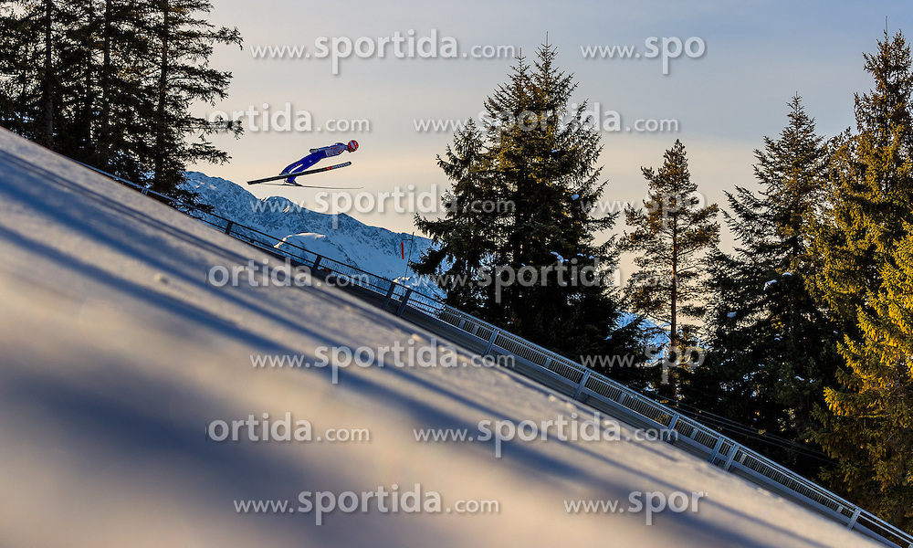 28.01.2017, Casino Arena, Seefeld, AUT, FIS Weltcup Nordische Kombination, Seefeld Triple, Skisprung, im Bild Bjoern Kircheisen (GER) // Bjoern Kircheisen of Germany in action during his Trail Jump of Skijumping of the FIS Nordic Combined World Cup Seefeld Triple at the Casino Arena in Seefeld, Austria on 2017/01/28. EXPA Pictures © 2017, PhotoCredit: EXPA/ JFK