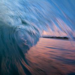 Perfect waves on Kuta Beach in Bali, Indonesia.