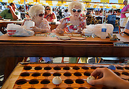 Irene Wilkas and Florence Weigel play Bingo at the St. Barbaras Bazaar, bazaar season kicked off this weekend.
