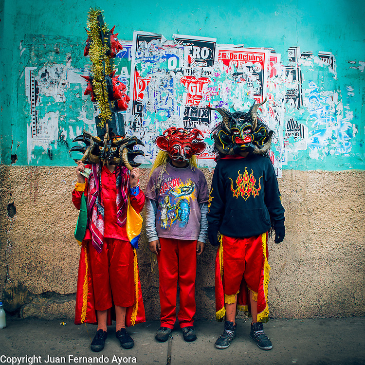 La Diablada de Pillaro, a festivity that happens every January in Pillaro, Ecuador to welcome the new year. Photographed by: Juan Fernando Ayora