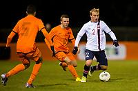 UDEN, Netherlands U17 - Norway U17, interland, seizoen 2012-2013, 26-3-2013, Norway U17 player Ola Ionn Jenssen (R), Netherlands U17 player Melvin Vissers (M), Netherlands U17 player Jairo Riedewald (L).
