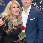 NLD/Scheveningen/20151213 - Premiere musical Beauty and the Beast, Patricia Paay en partner Maurice Dix
