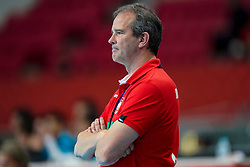 11-12-2019 JAP: Norway - Germany, Kumamoto<br /> Last match Main Round Group1 at 24th IHF Women's Handball World Championship, Norway win the last match against Germany with 32 - 29. / Coach Henk Groener of Germany