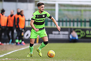 Forest Green Rovers Liam Shephard(2) on the ball during the EFL Sky Bet League 2 match between Forest Green Rovers and Notts County at the New Lawn, Forest Green, United Kingdom on 9 February 2019.
