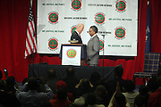 l to r: Vice-President Joe Biden and Rev. Al Sharpton at The 11th National Conference of The National Action Network held at The Sheraton on April 3, 2009 in New York City.
