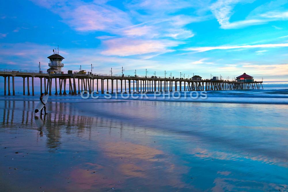 Huntington Beach Pier And Surfer