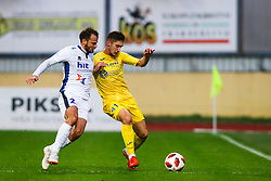Jani Curk of ND Gorica vs Adam Gnezda Cerin of NK Domzale during football match between NK Domzale and ND Gorica in 14th Round of Prva liga Telekom Slovenije 2018/19, on November 7, 2018 in Sportni Park, Domzale, Slovenia. Photo by Matic Klansek Velej / Sportida