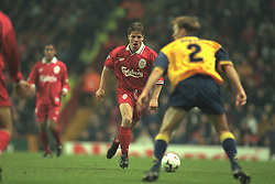 Liverpool, England - Wednesday, November 27th, 1996: Liverpool's Stig Inge Bjornebye in action during the 4-2 victory over Arsenal during the 4th Round of the League Cup at Anfield. (Pic by David Rawcliffe/Propaganda)