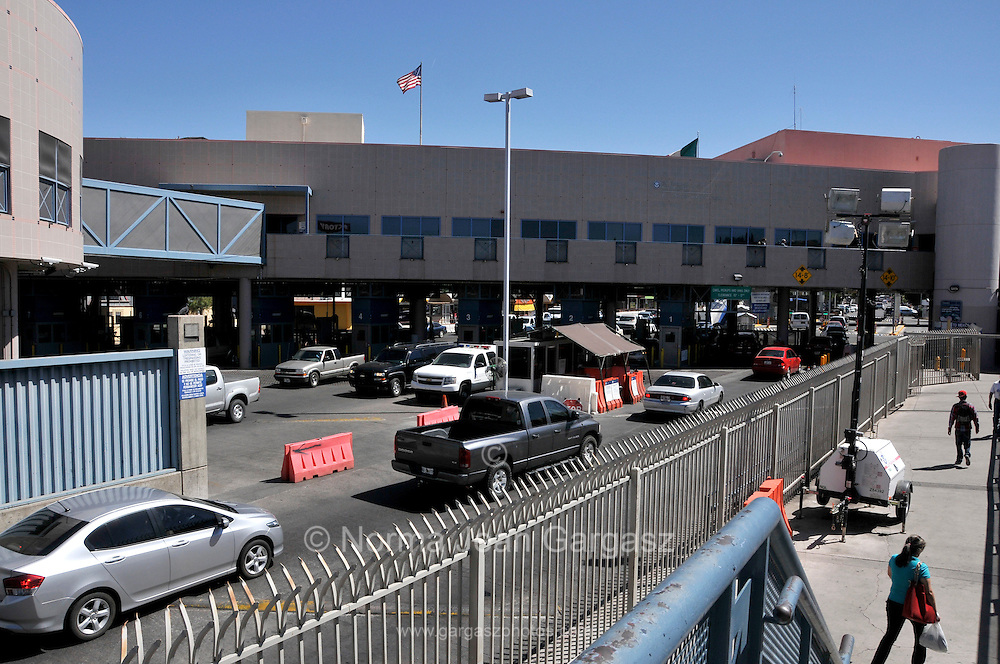 The Dennis DeConcini Port of Entry in Nogales, Arizona, USA serves as a customs inspection station at Nogales, Sonora, Mexico.
